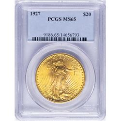 1927 $20 St. Gaudens Double Eagle Gold Coin PCGS MS65
