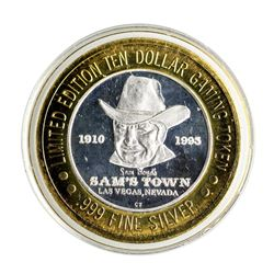 .999 Silver Sam's Town Las Vegas $10 Casino Limited Edition Gaming Token
