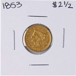 1853 $2 1/2 Liberty Head Quarter Eagle Gold Coin