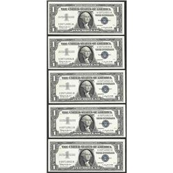 Lot of (5) 1957B $1 Silver Certificate Notes