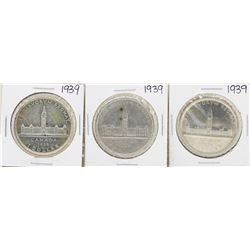 Lot of (3) 1939 $1 Canada Silver Dollar Coins