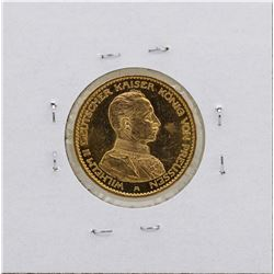 1914-A Germany-Prussia Wilhelm 20 Marks Gold Coin