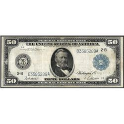 1914 $50 Federal Reserve Note New York