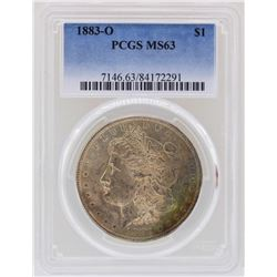 1883-O $1 Morgan Silver Dollar Coin PCGS MS63 Great Toning