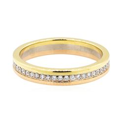 18KT Yellow, White and Rose Gold 0.25 ctw Diamond Ring