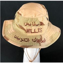 Bruce Willis - Military Boonie Hat used on his USO Tour with his Band
