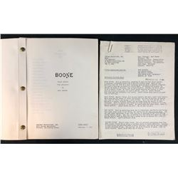 Boone (1983–1984) - Ronnie Claire Edwards Original Set Used Script and Pilot Presentation Sheets