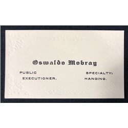 The Hateful Eight (2015) - Tim Roth (Oswaldo Mobray) Business Card