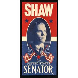 """Fantastic Beasts and Where to Find Them (2016) - """"Shaw For United States Senator"""" Flyer"""