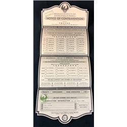 """Fantastic Beasts and Where to Find Them (2016) - """"Notice Of Contravention"""" Form"""