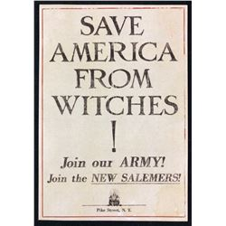 """Fantastic Beasts and Where to Find Them (2016) - """"Save America From Witches!"""" Flyer (Small)"""