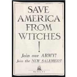 """Fantastic Beasts and Where to Find Them (2016) - """"Save America From Witches!"""" Flyer (Large)"""
