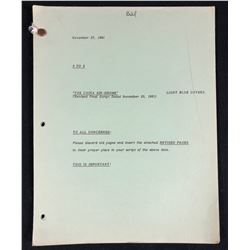 Nine to Five (1982–1988) - William Theiss Original Production Used Script for season one's episode ""