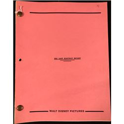 The Last Electric Knight (Disney Productions 1986) - Original Production Used Script