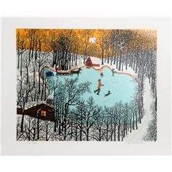 Kay Ameche, Walden Pond in Winter, Serigraph