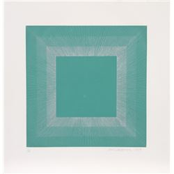 Richard Anuszkiewicz, Winter Suite (Green with Silver), Intaglio Aquatint Etching