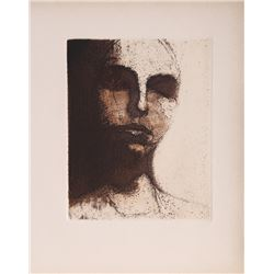 Leonard Baskin, Sleeping Portrait (9), Etching