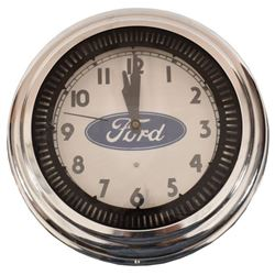 Ford Dealership Neon Clock