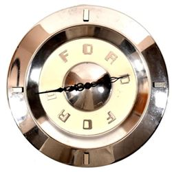 Ford Hubcap Clock