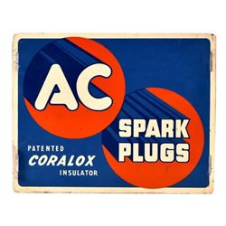 AC Spark Plugs Tin Sign