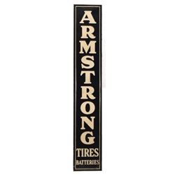 Armstrong Tires Advertising Tin Sign