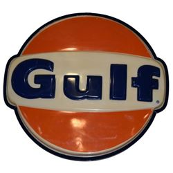 Large Gulf Lighted Gas Station Sign