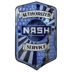 Nash Service Double-Sided Porcelain Sign