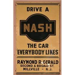 Nash Dealership Tin Sign