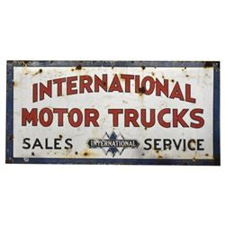 International Motor Trucks Porcelain Sign