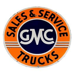 GMC Trucks Porcelain Dealership Sign