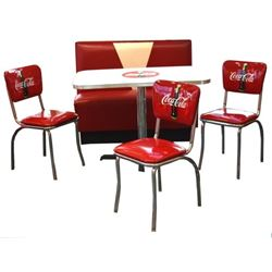 Coca-Cola Table Booth Seat & Chairs