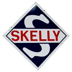 Skelly porcelain Gas Station Sign