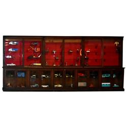 Large Country Store Wall Unit Display Case