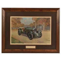 """""""Black Label Bentley"""" Lithograph by Gerald Coulson"""