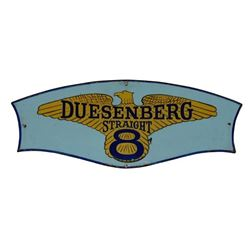 Duesenberg Straight 8 Hand-Painted Sign