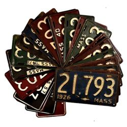 Collection Massachusetts License Plates 1926-1964