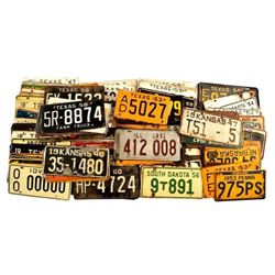 Large Collection of 1945's-60's License Plates