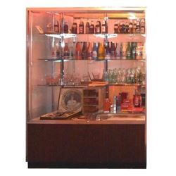 Display Case Full of Coca Cola Collectibles