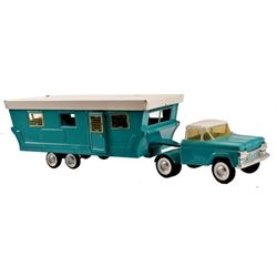 Nylint Pressed Steel Ford Truck and Travel Trailer