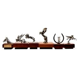 Collection of Antique Equestrian Hood Ornaments