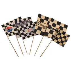 Collection of  Autographed NASCAR Checkered Flags