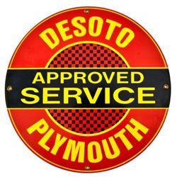 Desoto Plymouth Service Porcelain Sign
