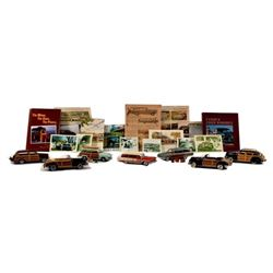 Display Case & Danbury Mint Woody Car Collection