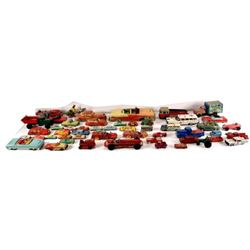 Large Collection of Lithographed Tin toy Cars