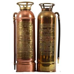 Antique Brass Fire Extinguishers