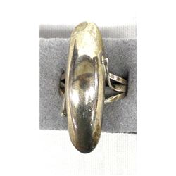 Navajo Sterling Domed Silver Ring, Size 9.25