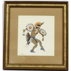 Navajo Silkscreen Print by Harrison Begay