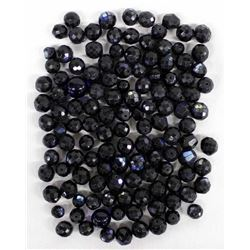 Box of Faceted Antique Russian Blue Trade Beads