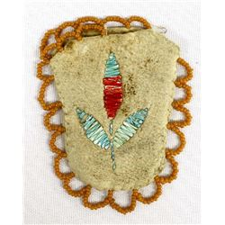 Old Small Iroquois Quill Beaded Purse