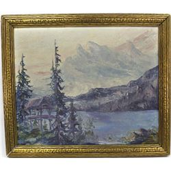 Antique Framed Landscape Oil Painting